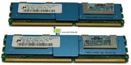 HP 1 GB (2x512MB) Advanced ECC PC-2 5300F 667 MHz DDRII SDRAM Single...